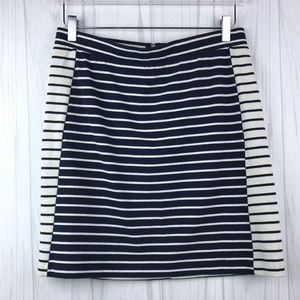 Tommy Hilfiger • Navy and White Striped Skirt